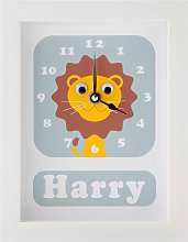 Stripey Cats Personalised Livingston Lion Framed