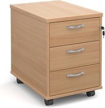Strive Home Office Mobile Pedestal, Beech