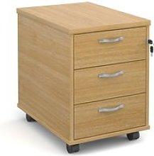 Strive Home Office Mobile Pedestal, Oak