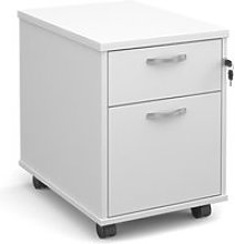 Strive Home Office Mobile Pedestal, White