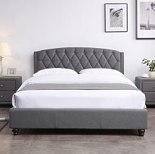 Stroble Upholstered Bed Frame Marlow Home Co.