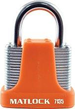 Strong Orange Steel Key Padlock - 40MM - Matlock