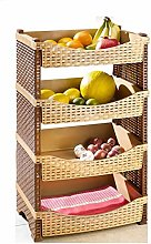 Strong Rattan Plastic Fruit Rack Vegetable Rack