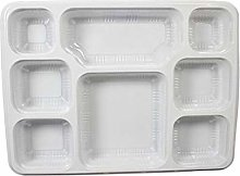 Strong White 8 Section Compartment Disposable