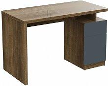 Stuart Natural Oak and Grey Office Desk