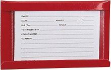 Stubbs Large Stud Card Holder (Large) (Red)