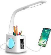 Study LED Desk Lamp with USB Charging