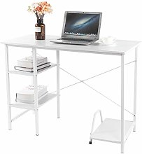 Study Table with Shelf, Computer Desk with