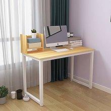 Study Work Desk with Shelf, Office Computer Desk