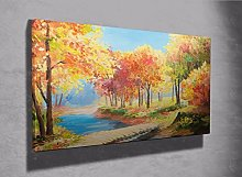 Stunning oil paint effect country landscape framed