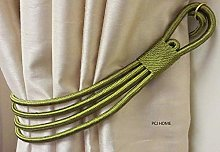 STUNNING OLIVE GREEN THICK LARGE CORD BANDED