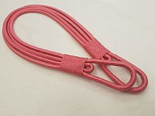 STUNNING PINK THICK LARGE CORD BANDED CURTAIN
