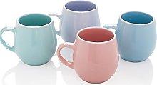 Stunning Set of 4 Pastel Colours Porcelain Extra
