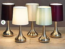 Stunning Teardrop Touch Dimmer Chrome Table Lamps