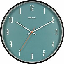 STUWON Metal paint/curved wood frame wall clock,