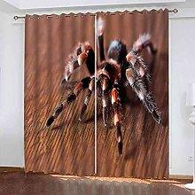 STWREO Blackout Curtain Animal spider 92x 91inch