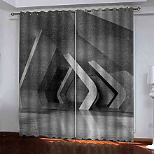 STWREO Blackout Curtain Gray space expansion 92x