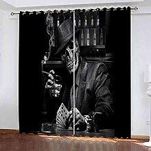 STWREO Blackout Curtain Skeleton Gentleman 92x