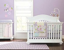 Styho 7-Piece Floral Baby Crib Bedding Set Cute