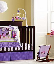 Styho 8-Piece Purple Elephant Nursery Bedding 100%