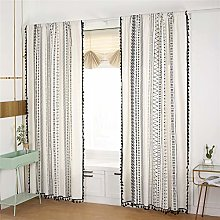 Styho Bohemian Bedroom Window Curtain with Tassels
