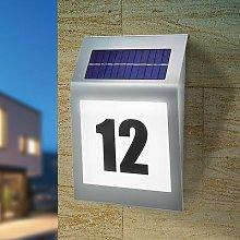 Style - solar design house number light