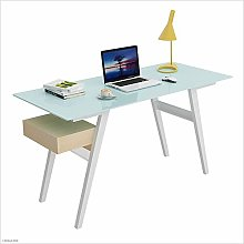 Stylish and Simple Computer Desk Modern Tempered