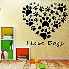Stylish Art Wall Stickers Removable I Love Dogs