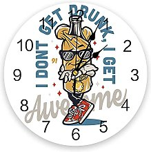 Stylish Beer Personality 3D Wall Clock Modern