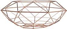 Stylish Copper Plated Vertex Fruit Basket Kitchen