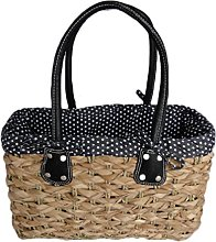 Stylish Medium Black Polka Dot French Market
