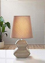 Stylish Pagoda Pebble Table Lamp - MOCHA Perfect