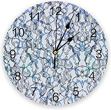 Stylish PVC Wall Clock, Silent Non-Ticking Round