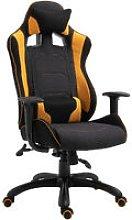 Stylish Racing Gaming Chair Yellow Panel 360°