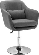 Stylish Retro Linen Swivel Tub Chair Steel Frame