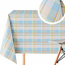 Stylish Tartan Pattern Wipe Clean Tablecloth -