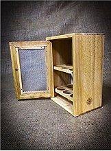 Stylish Wooden Egg Holder Cabinet Cupboard -
