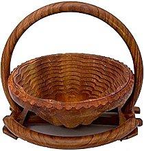 Stylla London® Handmade Wooden Fruit Egg Basket