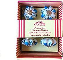 Stylla London® Set of 4  Blue & White Hand