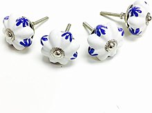 Stylla London® Set of 4  Blue & White Hand