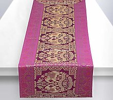 Stylo Culture Bohemian Dining Table Runner Purple