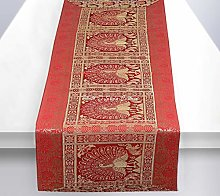 Stylo Culture Bohemian Dining Table Runner Red