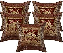 Stylo Culture Brocade Bohemian Bedroom Cushion