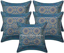 Stylo Culture Brocade Boho Bedroom Cushion Covers