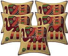 Stylo Culture Cotton Ethnic Sofa Cushion Covers