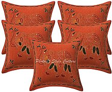 Stylo Culture Cotton Indian Sofa Cushion Covers