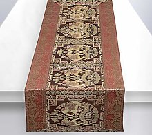 Stylo Culture Ethnic Center Table Runner Coffee