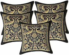 Stylo Culture Indian Cushion Covers 12x12 Set Of 5