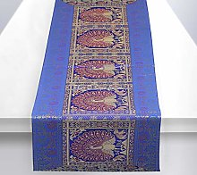 Stylo Culture Indian Dining Room Table Runner Dark