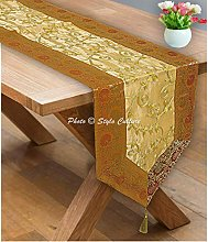 Stylo Culture Indian Dining Table Runners 72 Inch